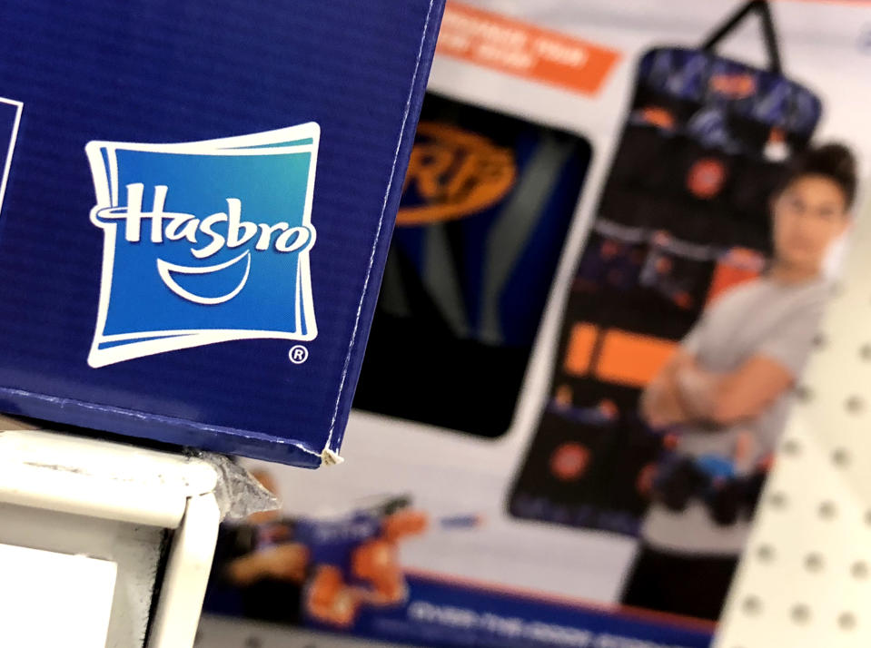 SAN RAFAEL, CALIFORNIA - FEBRUARY 08: Hasbro toys are displayed at a Target store on February 08, 2019 in San Rafael, California. Hasbro reported fourth quarter earnings that fell short of analyst expectations with earnings of $1.33 per share, far lower than the expected $1.68 per share. (Photo by Justin Sullivan/Getty Images)