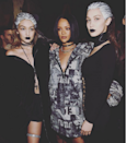 "<p>Bringing some dark edge to the Puma collection by Rihanna. <i>(Instagram/<a href=""https://www.instagram.com/gigihadid/"" rel=""nofollow noopener"" target=""_blank"" data-ylk=""slk:gigihadid"" class=""link rapid-noclick-resp"">gigihadid</a>)</i></p>"