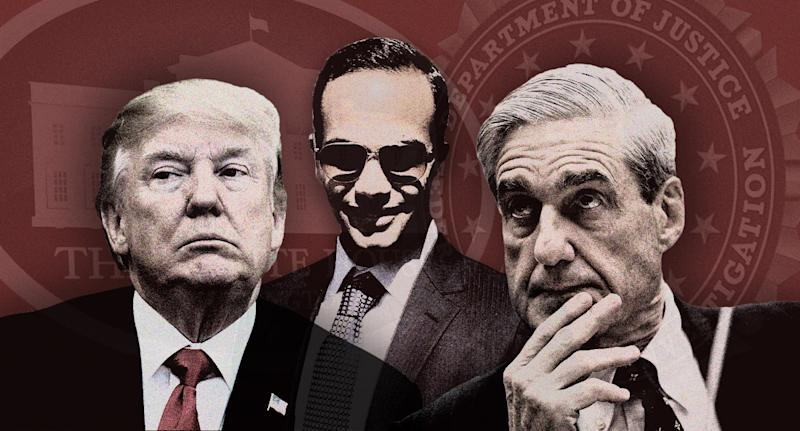Donald Trump, George Papadopouolos and Robert Mueller
