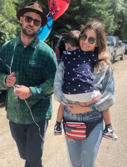 justin timberlake and jessica biel with son silas
