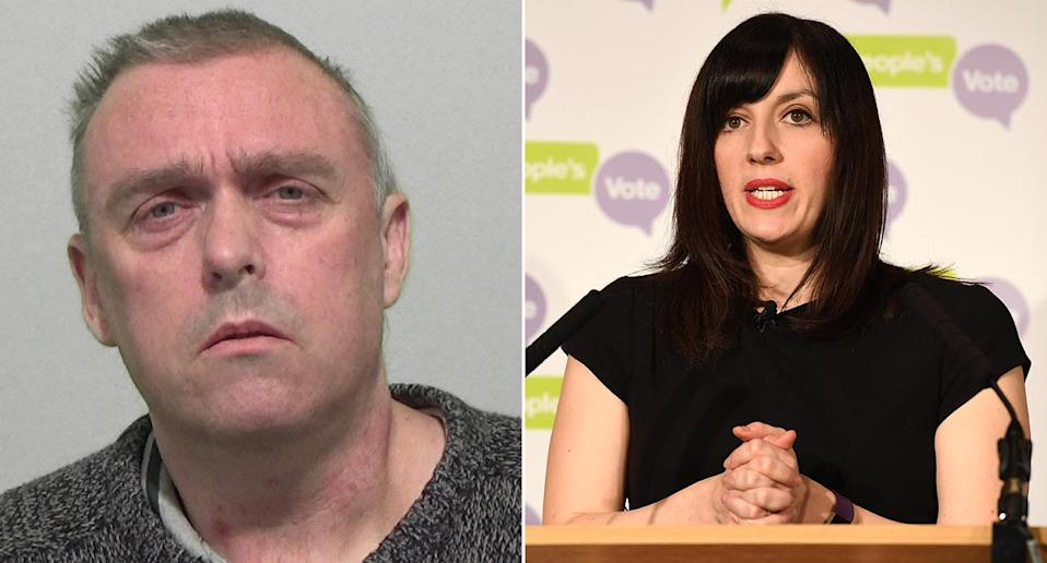 Colin Brown (left) threatened to shoot Bridget Phillipson. (PA)