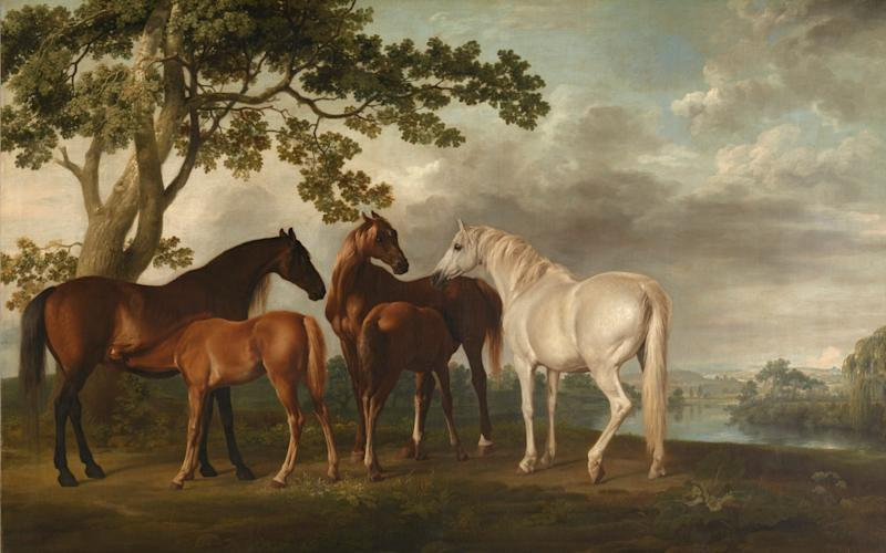 Mares and Foals in a River Landscape, 1763-68 - © Tate / Tate Images