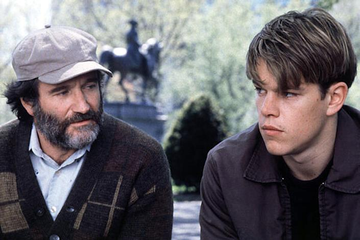 Working alongside acting greats, like Robin Williams, and watching them breathe life into characters they created turned out to be an intensely emotional experience for Matt Damon and Ben Affleck. (Miramax Films)