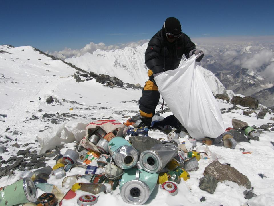A major Everest clean-up is needed (Getty)