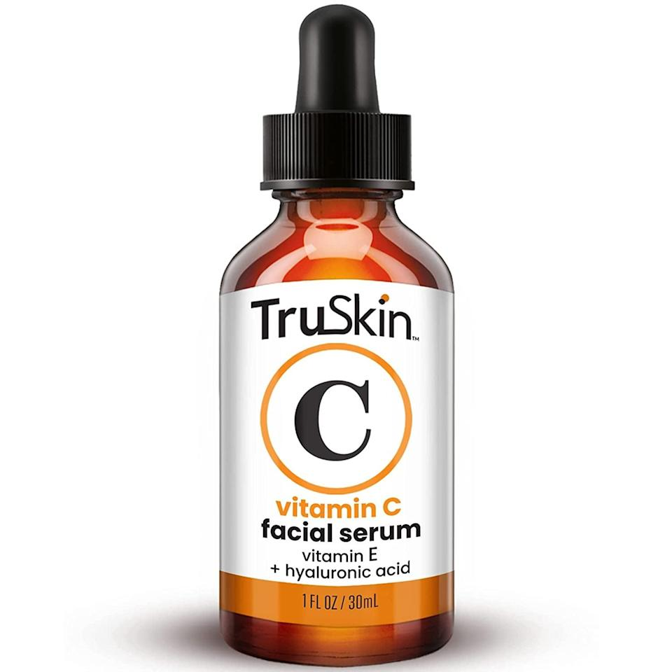 <p>The <span>TruSkin Naturals Vitamin C Serum</span> ($20) is a bestseller on Amazon and grows in popularity with each day. It's a powerful vitamin C serum that contains hyaluronic acid, vitamin E, witch hazel, and jojoba oil. With consistent use, you'll notice a brighter complexion with a smoother and even-toned skin. With over 80,000 ratings, it's no wonder this serum is the bestselling facial serum on Amazon. </p>