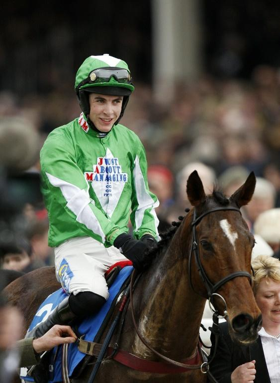 Aidan Coleman admitted to having some craic as he rode Put The Kettle On to victory in the Arkle Chase on the first day of the Cheltenham Festival (AFP Photo/ADRIAN DENNIS)