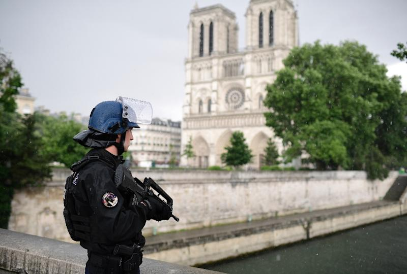 Macron's office announced the new task force a day after an attack outside Notre Dame Cathedral in central Paris