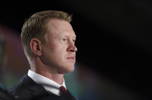 Police have arrested a 17-year old girl in connection with a burglary that saw Air Jordans and football helmets stolen from the home of Nebraska coach Scott Frost. (AP)