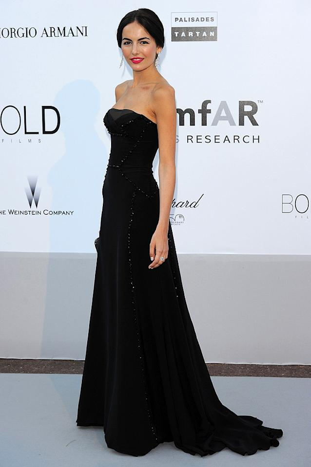 "Though the red lipstick gives her a nice pop of color, Camilla Belle played it safe in a black strapless Gucci Premiere gown. Venturelli/<a href=""http://www.wireimage.com"" target=""new"">WireImage.com</a> - May 20, 2010"
