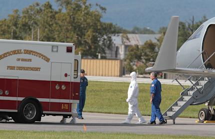 Since Aug. 1, Phoenix Air has rescued 15 people with Ebola or who have been exposed to the virus. (AP Photo/Timothy Jacobsen)