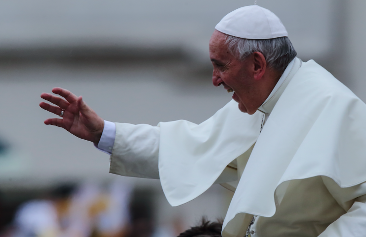 Pope Francis has added a new way to becoming a saint (Picture: Rex)