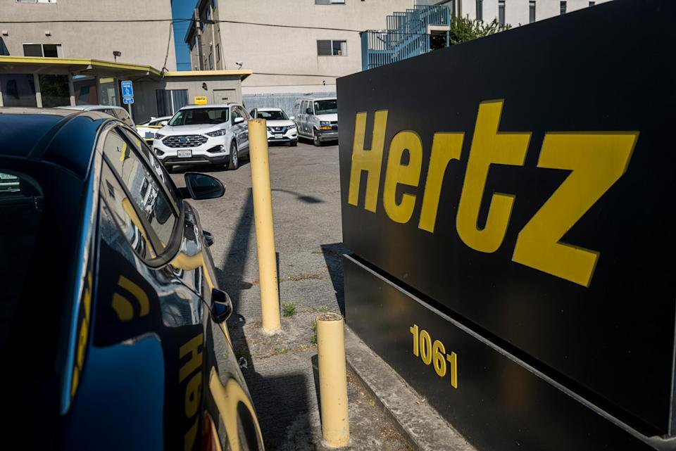 Hertz has filed for bankruptcy protection in the US: Bloomberg via Getty Images