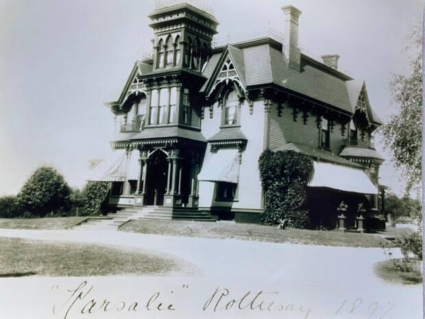 The Shadow Lawn Inn, seen here in 1897, was built in 1870 as a summer home for merchant James F. Robertson.