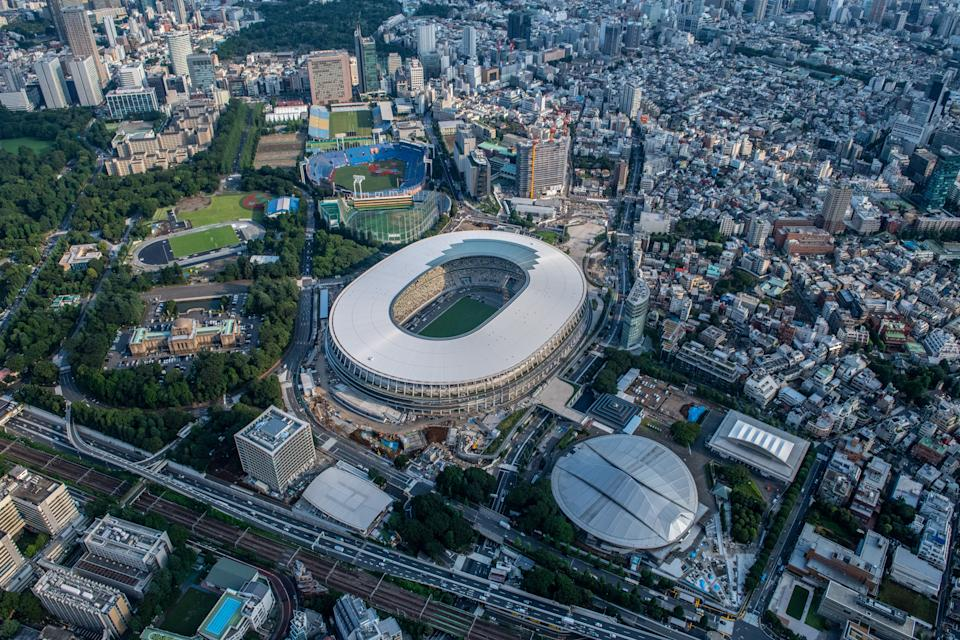 The new national stadium, the main stadium for the Tokyo 2020 Olympics, may be empty when the Games are held later this year. Source: Getty