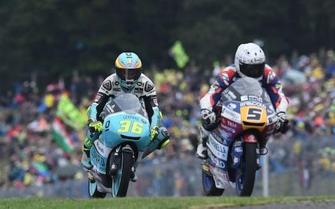 Romano Fenati and Joan Mir in the Czech Republic - Credit: MICHAL CIZEK /AFP