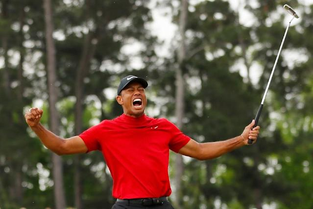 Woods' remarkable victory in The Masters can be an inspiration in Cardiff's bid to avoid relegation, said manager Warnock (AFP Photo/Kevin C. Cox)