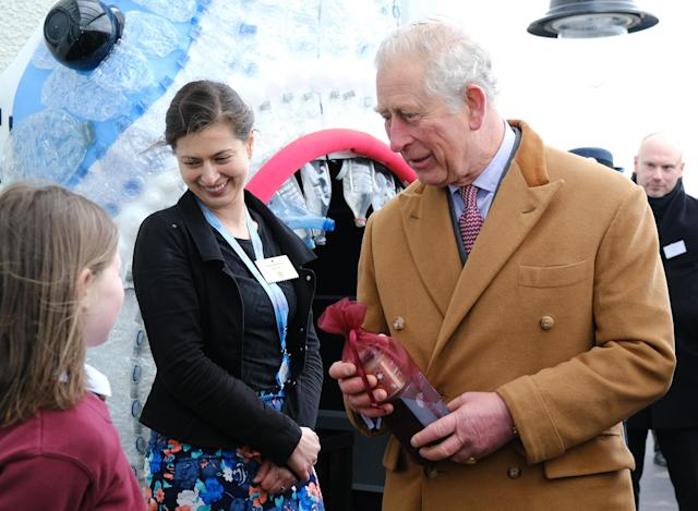 The Prince of Wales visited the school which was opened in September. (Press Association)