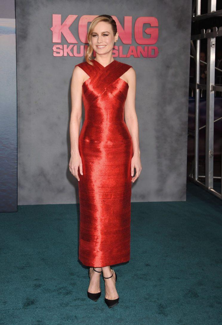 Brie Larson\'s Beautiful Red Gown Has a Hidden Message