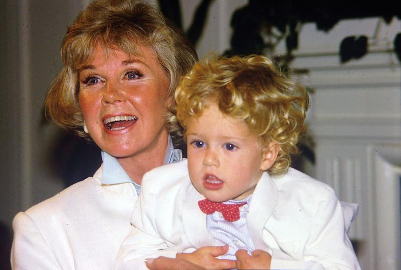 Doris Day and grandson Ryan Melcher, son of her Terry Melcher, who says he was banned from making contact.