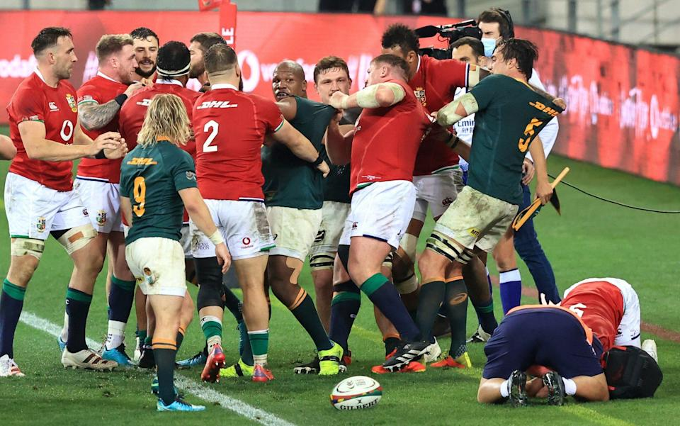The Lions and Springboks square up - GETTY IMAGES