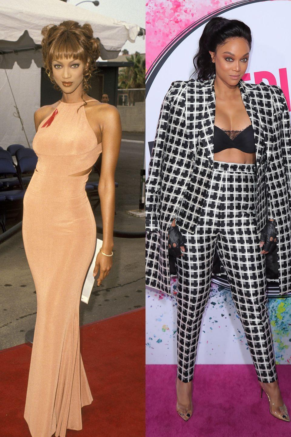 <p>Tyra's bold fashion choices have always been overshadowed by her fabulous smize. </p>