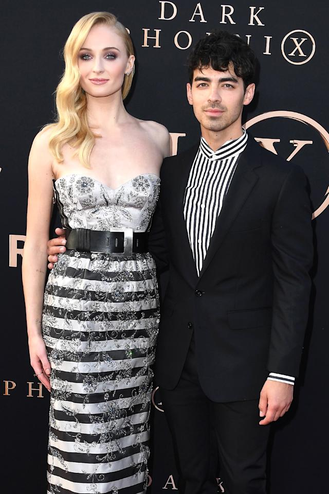 """<a href=""""https://people.com/celebrity/celeb-couples-double-weddings/"""">Eight weeks before</a> their French wedding at a chateau on June 29, 2019, Jonas and Turner tied the knot during a <a href=""""https://people.com/music/joe-jonas-sophie-turner-married-surprise-vegas-ceremony/"""">surprise Las Vegas ceremony</a>following the<a href=""""https://people.com/tag/billboard-music-awards/"""">Billboard Music Awards</a>. Their sister-in-law Priyanka Chopra<a href=""""https://people.com/tv/priyanka-chopra-bridesmaid-flower-girl-joe-jonas-sophie-turner-wedding/"""">told PEOPLE</a>: """"I was a bridesmaid and a flower girl. Double duty!""""  A source previously confirmed to PEOPLE that the couple wanted a<a href=""""https://people.com/music/joe-jonas-sophie-turner-why-married-las-vegas-legal-wedding/"""">traditional wedding ceremony</a>in Europe, but """"had to get married in the States to<a href=""""https://people.com/music/joe-jonas-sophie-turner-why-married-las-vegas-legal-wedding/"""">make it legal</a>."""""""
