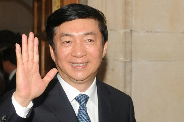 Luo Huining (pictured) has replaced Wang Zhimin as China's top envoy to Hong Kong (AFP Photo/RAVEENDRAN)