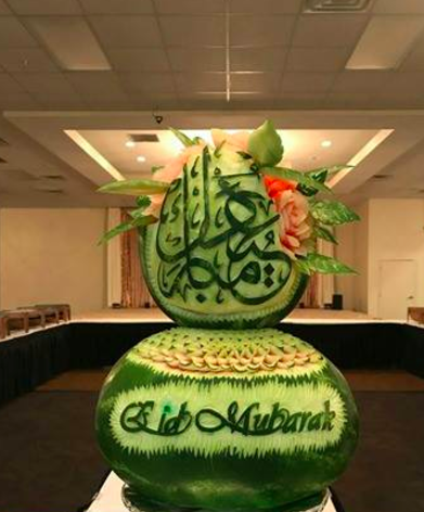 Ghazal's food art for the Islamic holiday of Eid. (Photo provided by Nazer Ghazal)