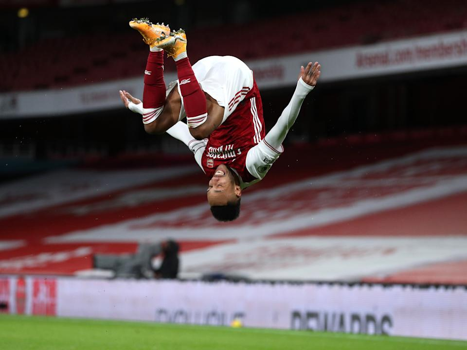 Pierre-Emerick Aubameyang opened and closed the scoring against NewcastleGetty Images