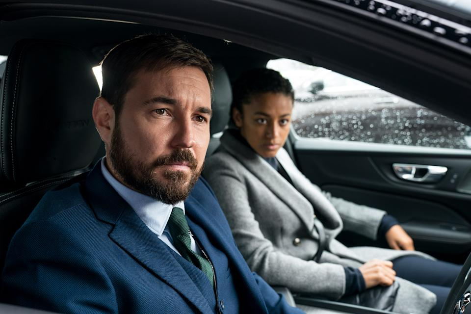 Programme Name: Line of Duty S6 - TX: n/a - Episode: Line Of Duty - Ep 3 (No. n/a) - Picture Shows:  DI Steve Arnott (MARTIN COMPSTON), DC Chloe Bishop (SHALOM BRUNE-FRANKLIN) - (C) World Productions - Photographer: Steffan Hill