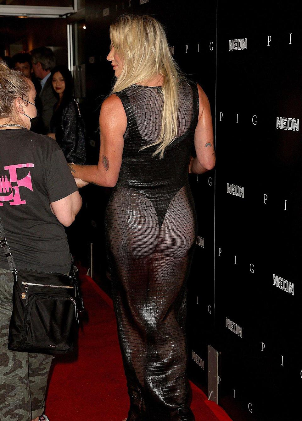 Kesha attends the Los Angeles premiere of Neon's