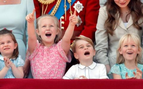 Princess Charlotte, Savannah Phillips, Prince George and Isla Philips at Trooping The Colour in 2018 - Credit:  Getty Images Europe