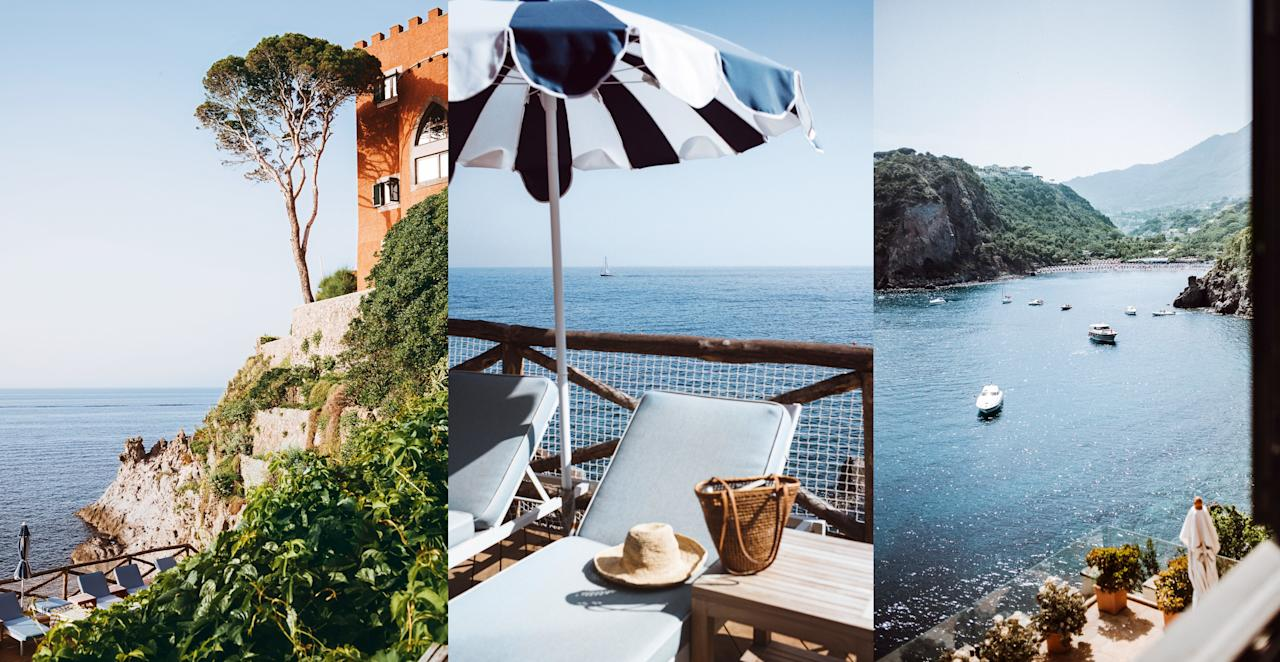 """<p><em>MEZZATORRE, ISCHIA</em></p> <p>In its midcentury heyday, <a href=""""https://www.cntraveler.com/story/what-to-do-on-ischia-the-quiet-italian-island-made-famous-by-elena-ferrante?mbid=synd_yahoo_rss"""">Ischia</a> shined as brightly as neighboring <a href=""""https://www.cntraveller.com/gallery/restaurants-bars-hotels-capri-italy"""">Capri</a>. It had beaches, healing springs, bays of supernatural green-blue in which Pablo Neruda learned to swim, and pastel fishing villages where W.H. Auden raved about the light with Truman Capote. Film director Luchino Visconti bought a home here; Hollywood followed. Yet flashier Capri stole the show. Nobody chose to name a style of pant after Ischia, and memories of its golden days slowly faded, restoring it to Neapolitan families and the low-key. """"Capri has glitz and glam, but it's so obvious,"""" says <a href=""""https://www.cntraveler.com/hotels/porto-ercole-gr/hotel-il-pellicano?mbid=synd_yahoo_rss"""">Il Pellicano's</a> Marie-Louise Scio, who chose the lesser-known island for the group's third property, taking over the historic Mezzatorre this summer. The sea-urchin-colored hotel is a former 16th-century watchtower and pirates' lookout on the island's wild northwest headland. Ceilings are high and vaulted, verandas crenellated, walls six feet thick in places. Solid quietude envelops. Some rooms are set in forest—exuberant birdsong in the Mediterranean pines—above which rises Visconti's abandoned early-20th-century villa. In the basement of the hotel, a deep-green tiled thermal spa bubbles with pools of mineral water; treatments use indigenous nutrient-rich mud. But the centerpiece is a glorious outdoor saltwater pool around which guests doze on daybeds, the sun umbrellas bright with blue-and-white stripes. At poolside La Baia, waiters pour Ischian wine with plates of carpaccio di mare. The chef at formal La Torre restaurant is an islander who cooks unfussy food, using top-quality produce from the volcanic soils. Capri dazzles. Ischia dazzle"""