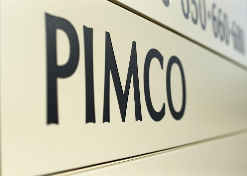 A PIMCO sign is shown in Newport Beach