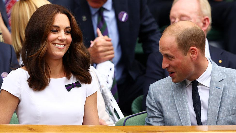 Kate and Wills are couple goals at Wimbledon