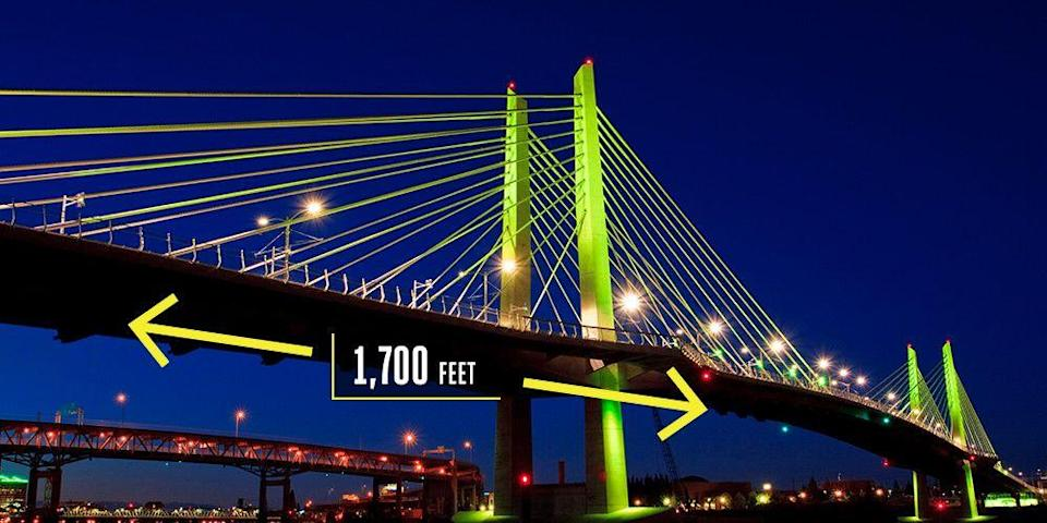 "<p><strong>Portland, Oregon</strong></p><p>The <a href=""https://www.popularmechanics.com/technology/infrastructure/g2136/portland-tillikum-crossing-bridge-no-cars/"" rel=""nofollow noopener"" target=""_blank"" data-ylk=""slk:first new crossing"" class=""link rapid-noclick-resp"">first new crossing</a> over Portland's Willamette River since 1973, 1,700-foot Tilikum Crossing opened in September 2015. The structure is remarkable not only for the slender design, with 110.5-foot towers that flow down to the five spans, but also because of what you won't find on the bridge: cars. It's not easy to build a big infrastructure project in America, much less one that turns away drivers. But only light rail, streetcar, buses, <a href=""https://www.portlandoregon.gov/transportation/68548"" rel=""nofollow noopener"" target=""_blank"" data-ylk=""slk:pedestrians"" class=""link rapid-noclick-resp"">pedestrians</a>, and cyclists are welcome here.</p>"