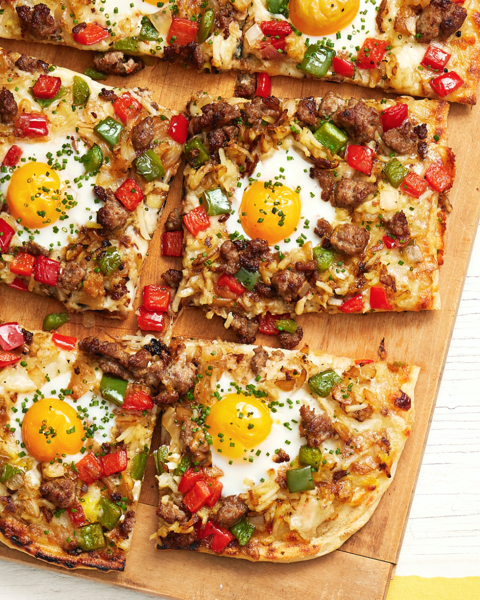 "<p>If your family is a fan of breakfast-for-dinner, they'll love this grilled variation that combines two of our favorites: breakfast and pizza! </p><p><a href=""https://www.thepioneerwoman.com/food-cooking/recipes/a33407092/grilled-breakfast-pizza-recipe/"" rel=""nofollow noopener"" target=""_blank"" data-ylk=""slk:Get Ree's recipe."" class=""link rapid-noclick-resp""><strong>Get Ree's recipe.</strong></a></p><p><a class=""link rapid-noclick-resp"" href=""https://go.redirectingat.com?id=74968X1596630&url=https%3A%2F%2Fwww.walmart.com%2Fsearch%2F%3Fquery%3Dpizza%2Bcutter&sref=https%3A%2F%2Fwww.thepioneerwoman.com%2Ffood-cooking%2Fmeals-menus%2Fg36109352%2Ffathers-day-dinner-recipes%2F"" rel=""nofollow noopener"" target=""_blank"" data-ylk=""slk:SHOP PIZZA CUTTERS"">SHOP PIZZA CUTTERS </a></p>"