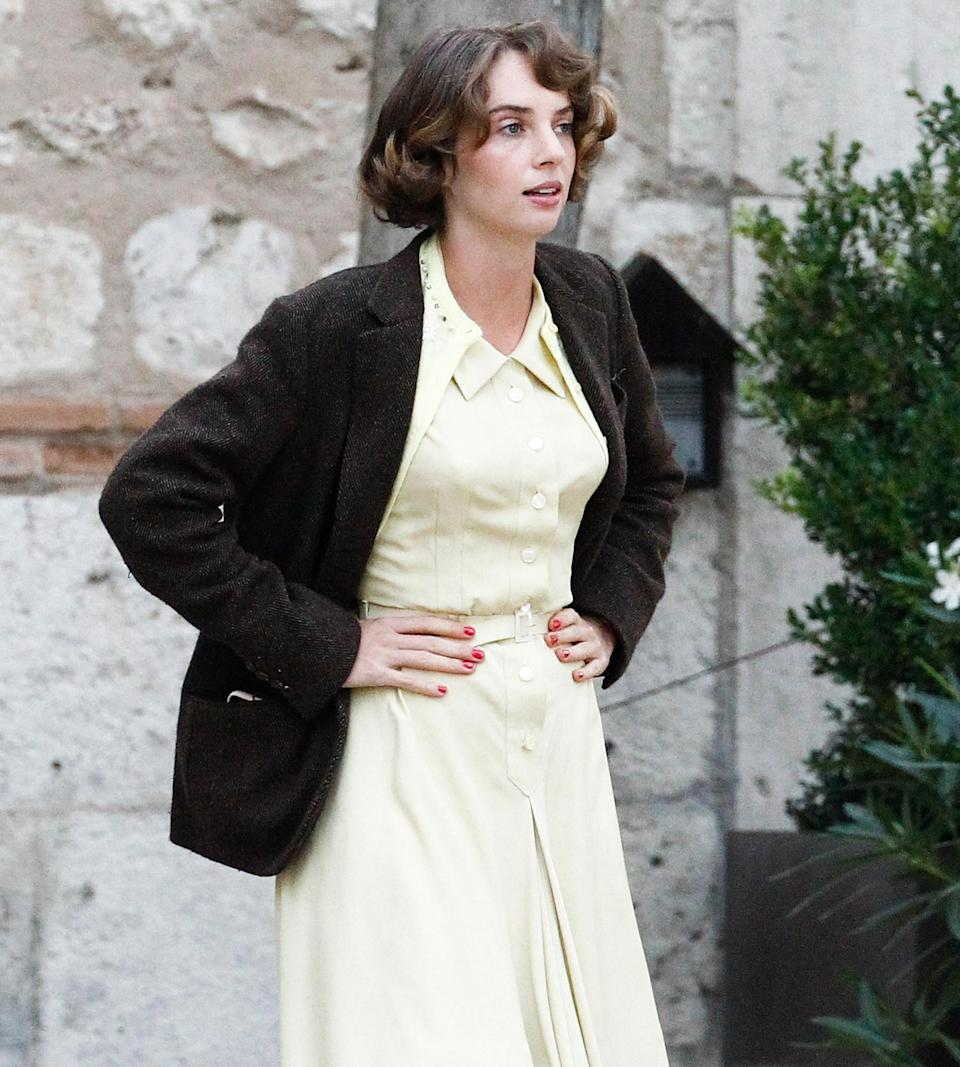 <p>Maya Hawke shoots scenes for <em>Asteroid City</em> in Madrid on Oct. 4. </p>