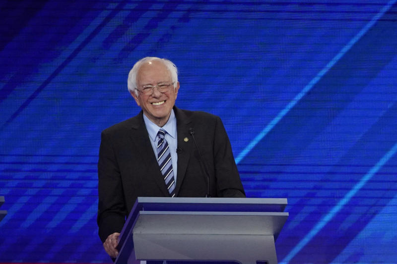 Sen. Bernie Sanders smiles during the Democratic presidential debate in Houston last month. (AP Photo/David J. Phillip)