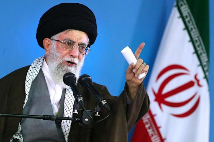 """Iran's supreme leader Ayatollah Ali Khamenei warned that """"some"""" world powers are not to be trusted (AFP Photo/)"""