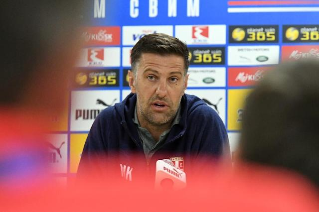 Serbia coach Mladen Krstajic is being investigated by FIFA (AFP Photo/Attila KISBENEDEK)