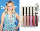 "<p>For super soft and luscious lips, Kristen Bell says she keeps <a href=""http://iliabeauty.com/collections/lip-gloss"" rel=""nofollow noopener"" target=""_blank"" data-ylk=""slk:Ilia Lip Gloss"" class=""link rapid-noclick-resp"">Ilia Lip Gloss </a>($24) in her makeup bag. The traditional lip wands combine coconut oil with shea butter and vitamin E to deeply hydrate your pout while dressing them in glossy color.</p><p><i>(Photo: Getty Images/ Ilia Beauty)</i><br></p>"