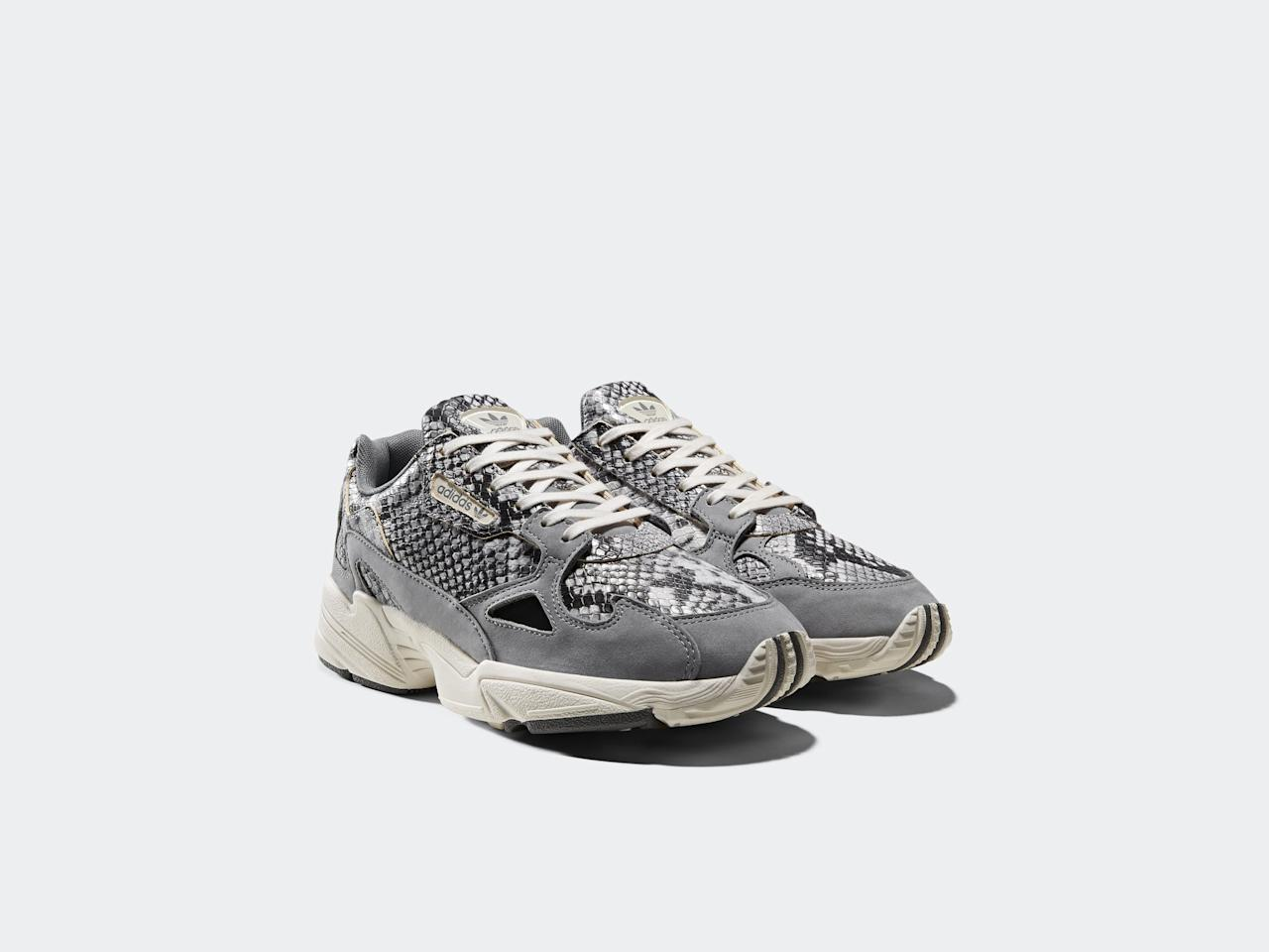 """<p><a href=""""https://www.popsugar.com/buy/Adidas-Originals-Falcon-Shoes-480942?p_name=Adidas%20Originals%20Falcon%20Shoes&retailer=adidas.com&pid=480942&price=120&evar1=fab%3Auk&evar9=46507234&evar98=https%3A%2F%2Fwww.popsugar.com%2Ffashion%2Fphoto-gallery%2F46507234%2Fimage%2F46507238%2FAdidas-Originals-Falcon-Shoes&list1=shoes%2Csneakers%2Cadidas%2Ccollections&prop13=api&pdata=1"""" rel=""""nofollow"""" data-shoppable-link=""""1"""" target=""""_blank"""" class=""""ga-track"""" data-ga-category=""""Related"""" data-ga-label=""""https://www.adidas.com/us/continental-80-shoes/EH0169.html"""" data-ga-action=""""In-Line Links"""">Adidas Originals Falcon Shoes</a> ($120)</p>"""