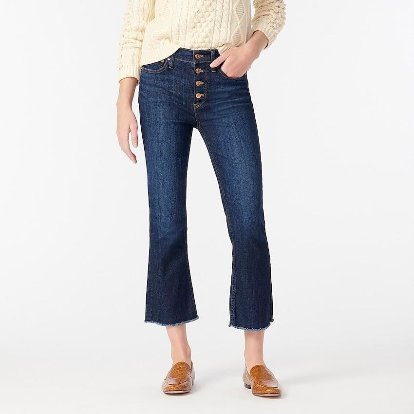 """<p>""""These <span>J.Crew Demi-boot Crop Jean</span> ($128) are great for just about every season, they look great with sneakers and even better boots. But most importantly they have just the right amount of stretch, so they are comfortable all day long. I also personally love the look of a button fly with a tucked in top or sweater."""" - Lauren Hendrickson, Head of Shop and Affiliate Growth</p>"""