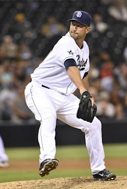 Jason Lane pitched 3 1/3 scoreless innings in his return to the majors. (Getty Images)