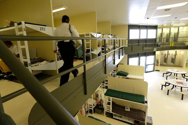n 2017, a women's area at the Northwest Detention Center in Tacoma, Wash., is shown during a media tour of the facility. The federal facility, operated under contract by the GEO Group, is used to house people detained on immigration and other violations. (Photo: Ted S. Warren/AP)