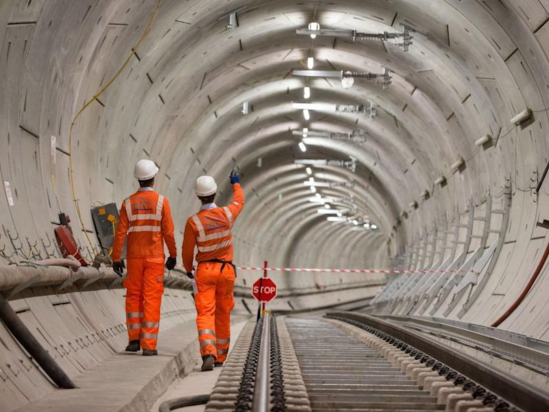 Crossrail engineers inspect completed tracks (file photo): PA