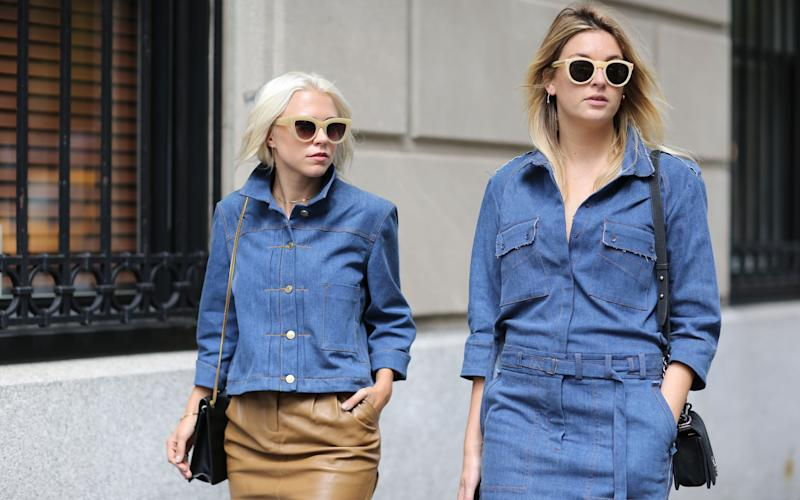 Camille Charrière with a fashion week companion - Credit: Rex
