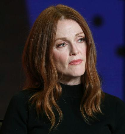 """Actor Julianne Moore attends a news conference to promote the film """"Suburbicon"""" at the Toronto International Film Festival (TIFF) in Toronto, Canada, September 10, 2017.    REUTERS/Fred Thornhill"""
