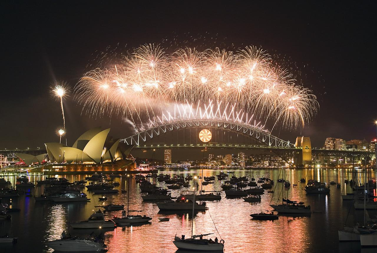"""<a href=""""https://www.cntraveler.com/destinations/sydney?mbid=synd_yahoo_rss"""" target=""""_blank"""">Sydney</a>'s summertime <a href=""""http://www.sydneynewyearseve.com/"""" target=""""_blank"""">New Year's celebrations</a> are among the first to welcome in 2020, with a fantastic fireworks-fueled show that's blasted across television screens the world over. This year, expect to see fairly unreal pyrotechnics on the <a href=""""https://www.cntraveler.com/activities/sydney/sydney-harbour-bridge?mbid=synd_yahoo_rss"""" target=""""_blank"""">Sydney Harbour Bridge</a> and more than 1,000 fireworks bursting above the """"sails"""" of the Sydney Opera House. Take your pick from one of the fun vantage points—we like the Gladesville Bridge or Barangaroo, though there are <a href=""""https://www.sydneynewyearseve.com/ticketed-events/"""" target=""""_blank"""">ticketed spots</a> that keep huge crowds at bay like the <a href=""""https://opera.org.au/whatson/events/the-opera-gala-new-years-eve"""" target=""""_blank"""">Opera Gala</a>. Stay for the beloved Harbour Light Parade, when 50-plus illuminated vessels float on by."""